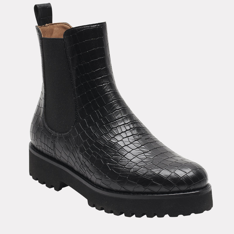 Peggy Embossed Chelsea Boot (Moc Croc)