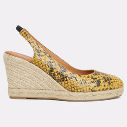 Raisa Espadrille Wedge (Yellow Snake)