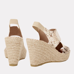 Reese Espadrille Wedge (Sand Snake)