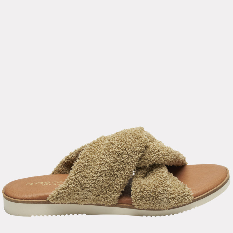 Tristan Featherweights ™ Slide Sandals (Taupe)