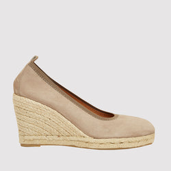 Rhonda Napa Closed Toe Espadrille Wedge (Taupe)