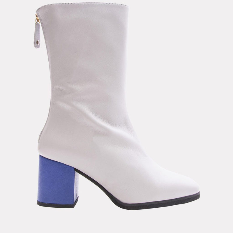 Boot - Eri Nappa Leather Boot (Grey/Blue)