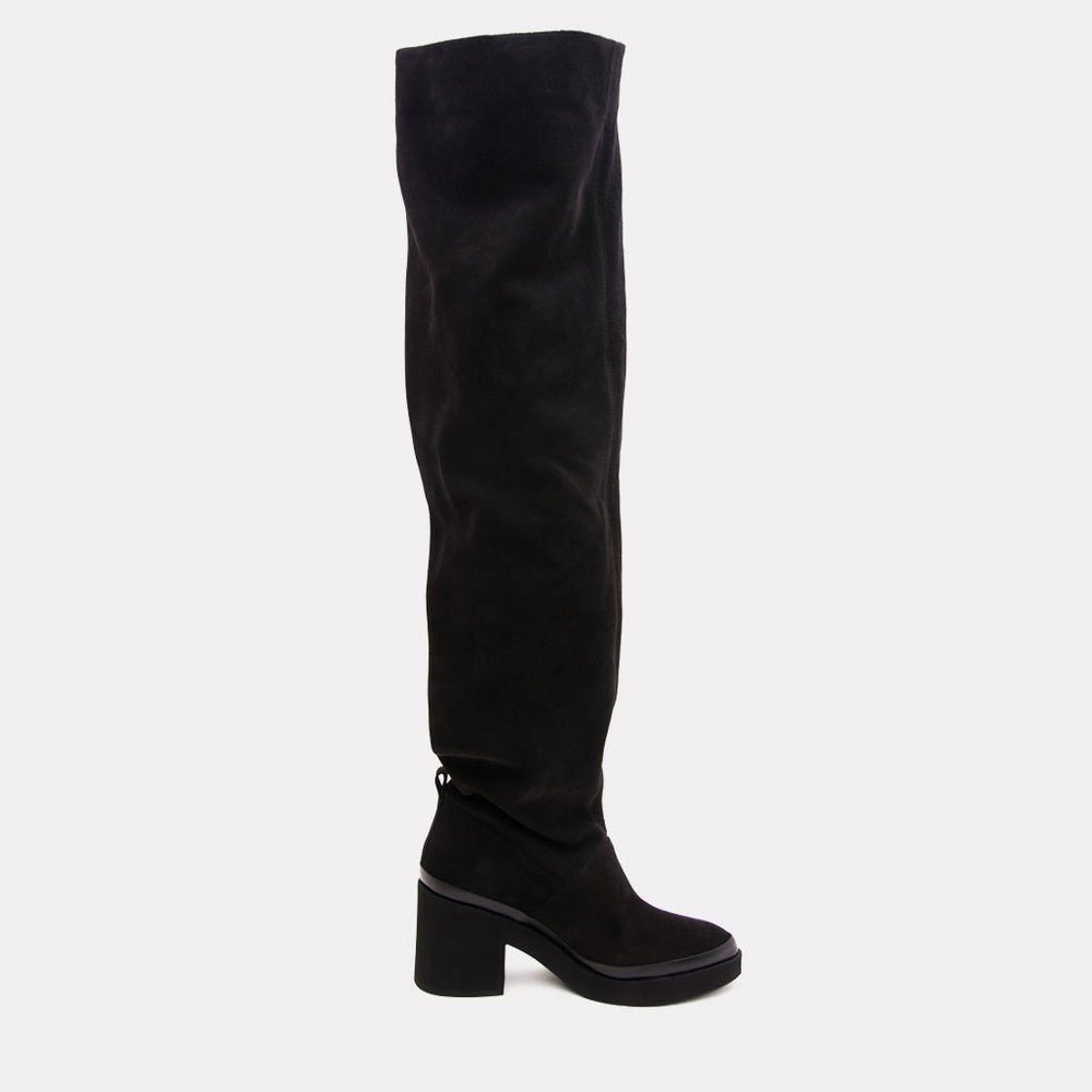 Boot - Natalia Suede Over The Knee Boot (Black)