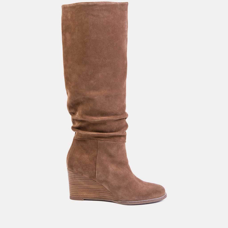 Boot - Saffi Suede Tall Shaft Boot (Cognac Suede)