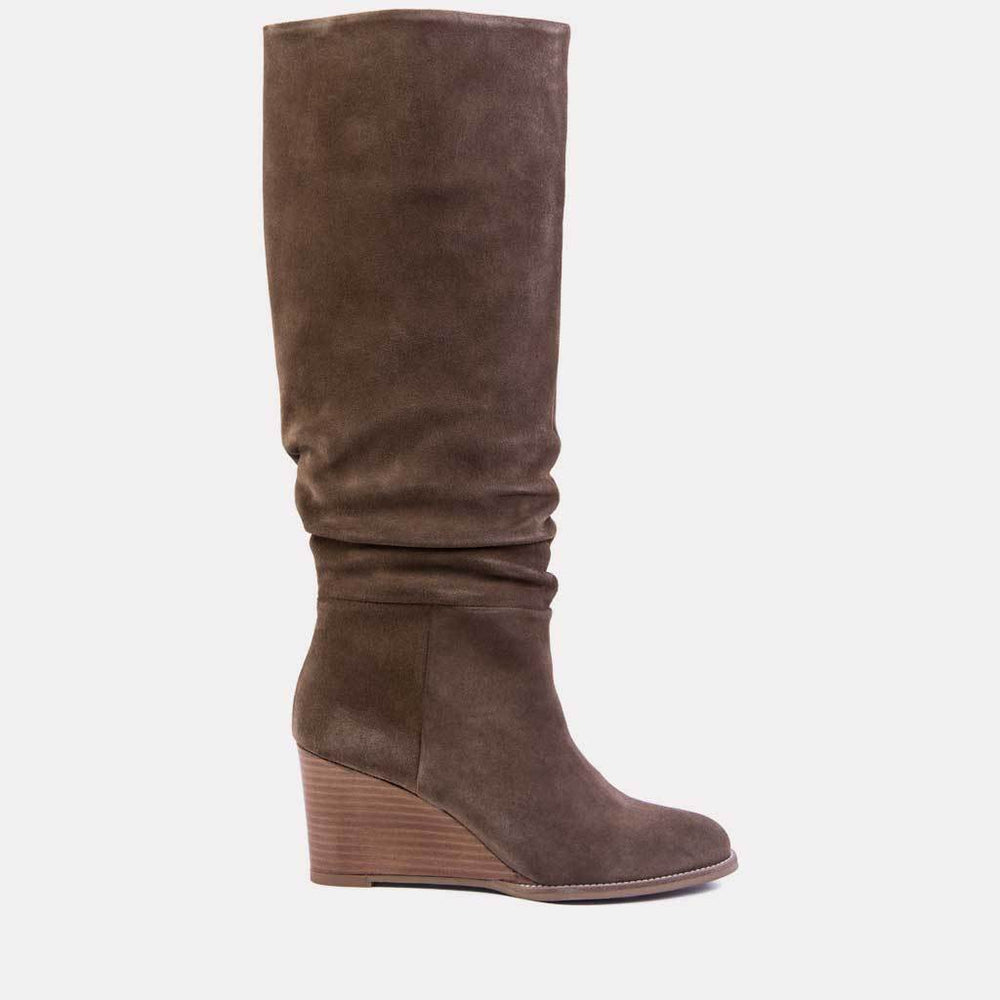 Boot - Saffi Suede Tall Shaft Boot (Taupe Suede)