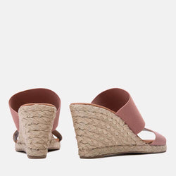Espadrille - Amalia Elastic Double Band Espadrille Wedge (Blush)