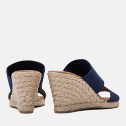 Espadrille - Amalia Elastic Double Band Espadrille Wedge (Navy)