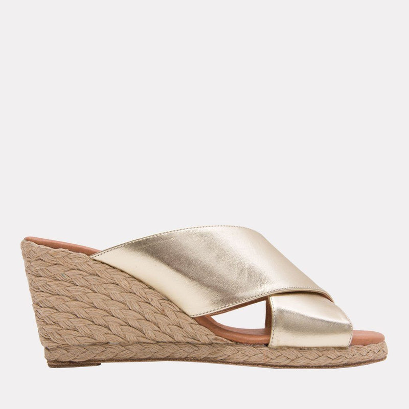 Espadrille - Amber Suede Criss Cross Straps Espadrille Wedge (Taupe Suede)