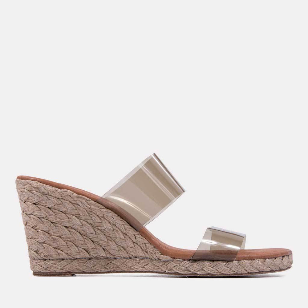 Espadrille - Anfisa Vinyl Strap Espadrille Wedge (Taupe)