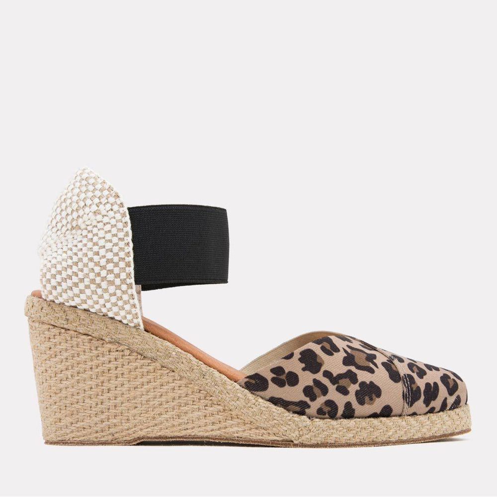 Espadrille - Anouka Mid Canvas Elastic Wedge (Leopard)