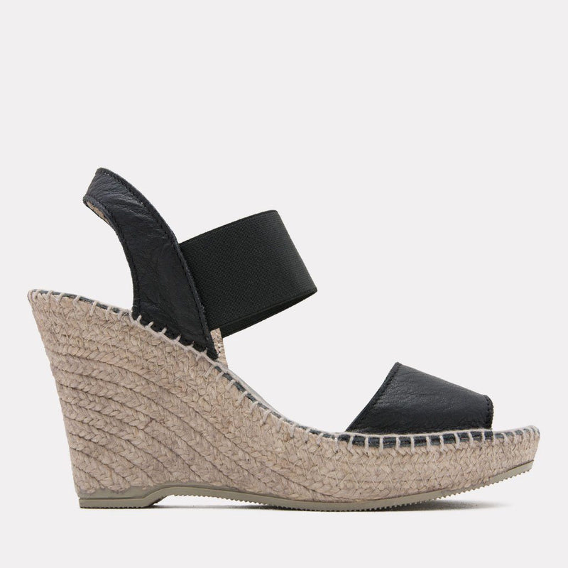 Espadrille - Charlee Woven Espadrille Wedge (Black)