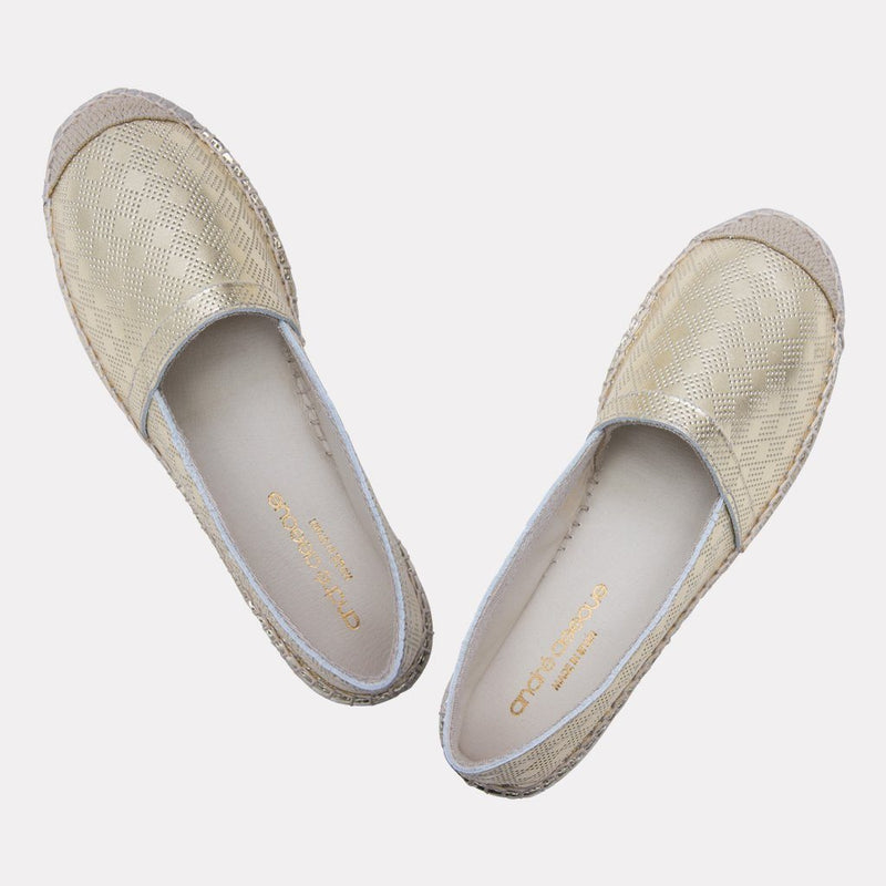 Espadrille - Ilia Metallic Leather Slip On Espadrille (Platino)
