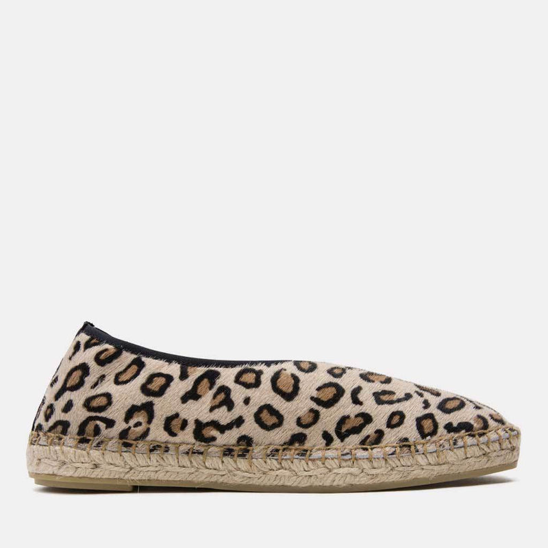 Espadrille - Laurel Pony Hair Slide On Espadrille (Leopard)