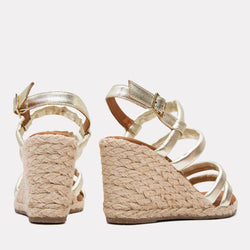 Espadrille - Rebecca Metallic Leather Espadrille (Platino Metallic)