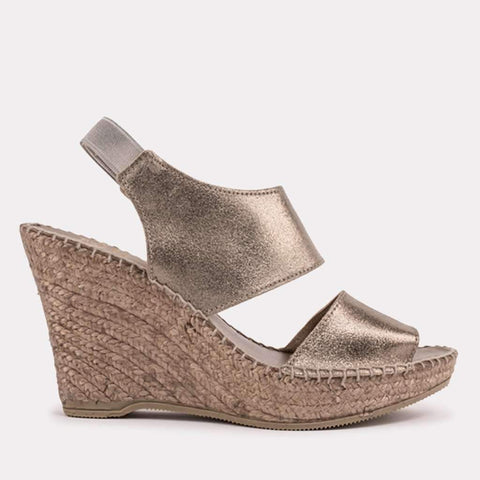 Reese Brushed Suede Espadrille Sandal (Pewter )