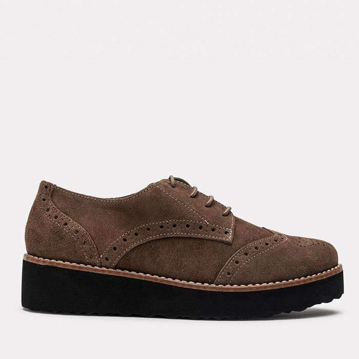 Flat - Tate Suede Loafer (Lodo)