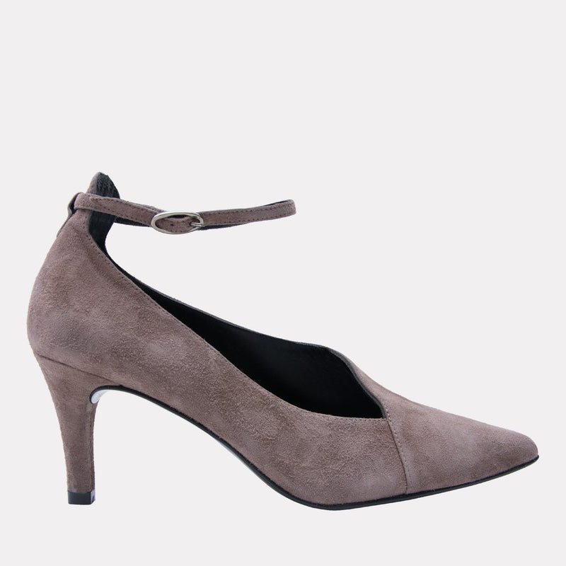 Heel - Orly Suede Pump (Taupe)