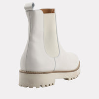 Peggy Embossed Chelsea Boot (White)