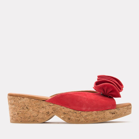 Basha Suede Sandal (Red Suede)