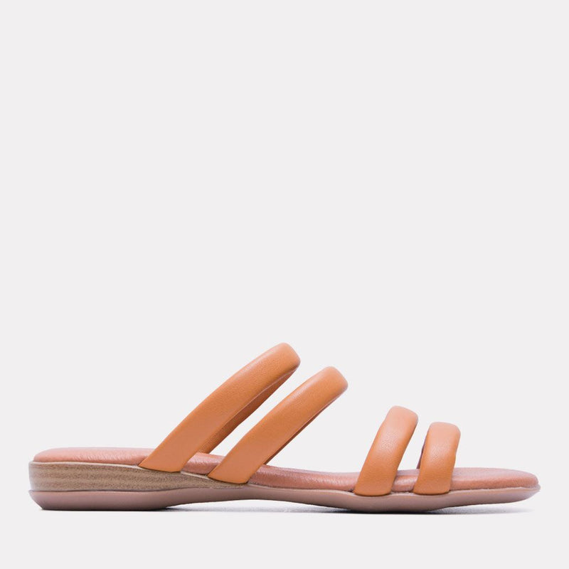 Sandal - Nalia Split Leather Slide (Orange)