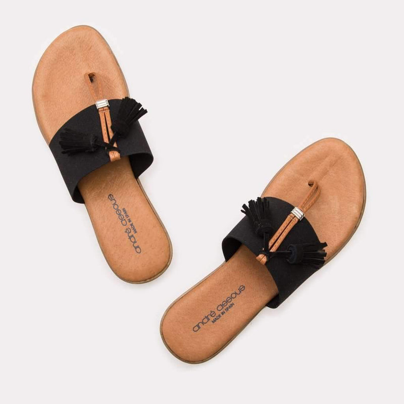 Sandal - Nancy Elastic Sandal (Black)
