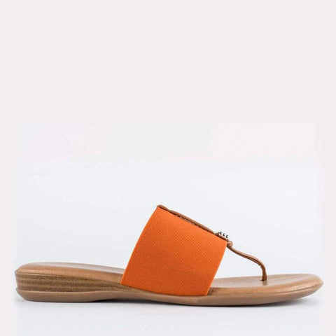 Nice Elastic Sandal Flat (Orange)