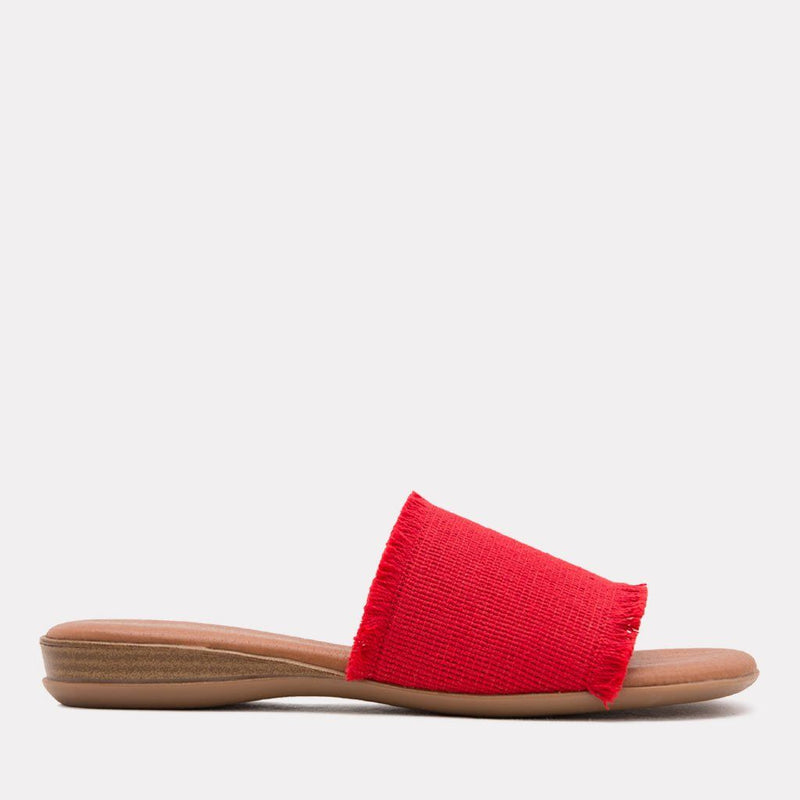 Sandal - Nirvana Elastic Frayed Sandal (Red)