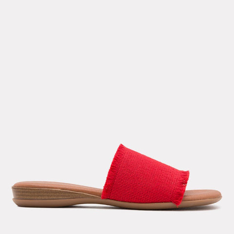 Nirvana Elastic Frayed Sandal (Red)