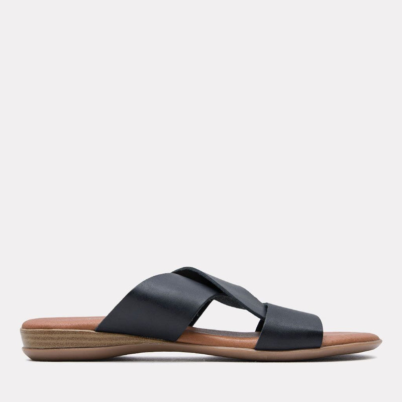 Sandal - Noelle Vaquetta Leather Slide (Black)