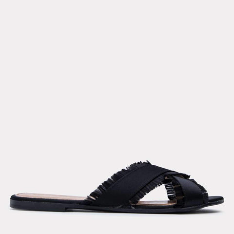 Nova Satin Sandal (Black)
