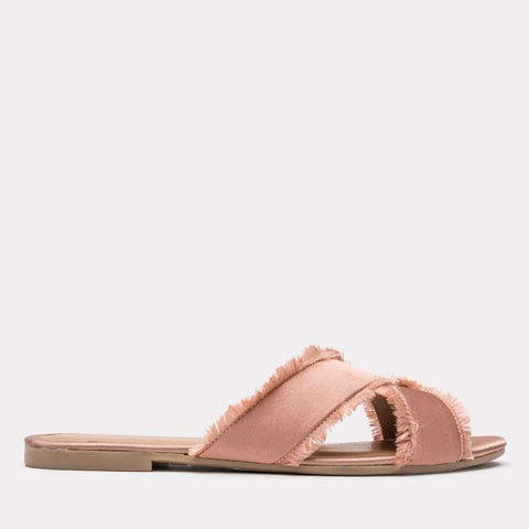 Nova Satin Sandal (Blush)