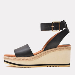 Sandal - Petra Leather Sandal Wedge (Black)