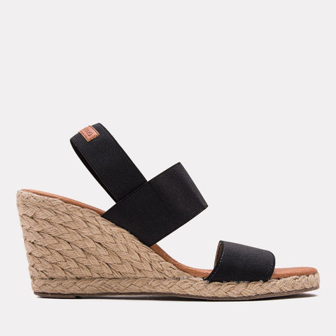 Allison Elastic Wedge (Black)