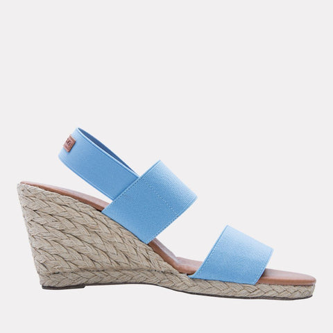 Allison Elastic Wedge (Celeste Blue)
