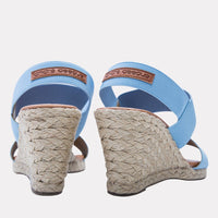 Wedge - Allison Elastic Wedge (Celeste Blue)
