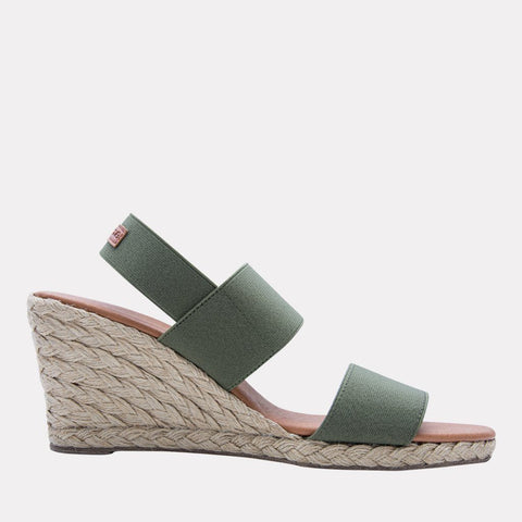 Allison Elastic Wedge (Forest Green)