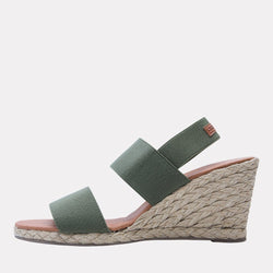 Wedge - Allison Elastic Wedge (Forest Green)