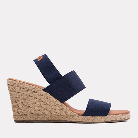 Allison Elastic Wedge (Navy)
