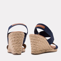 Wedge - Allison Elastic Wedge (Navy)