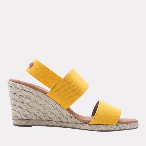 Allison Elastic Wedge (Saffron)