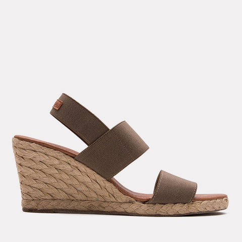 Allison Elastic Wedge (Taupe)