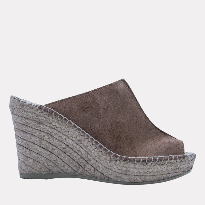 Wedge - Cici Suede Wedge (Dark Beige)