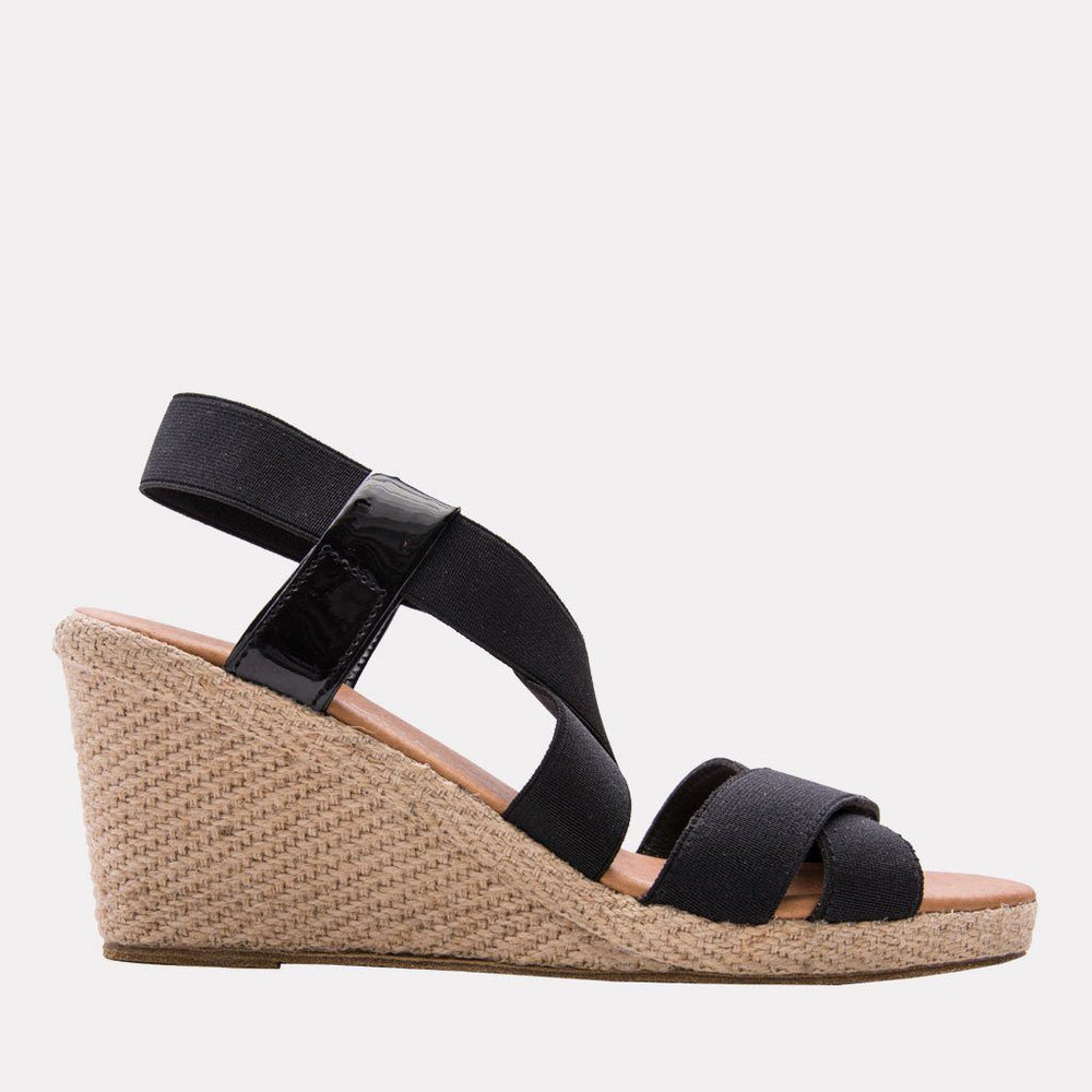 Wedge - Dalmira Mid Elastic Wedge (Black)