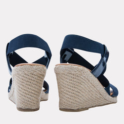 Wedge - Dalmira Mid Elastic Wedge (Navy)