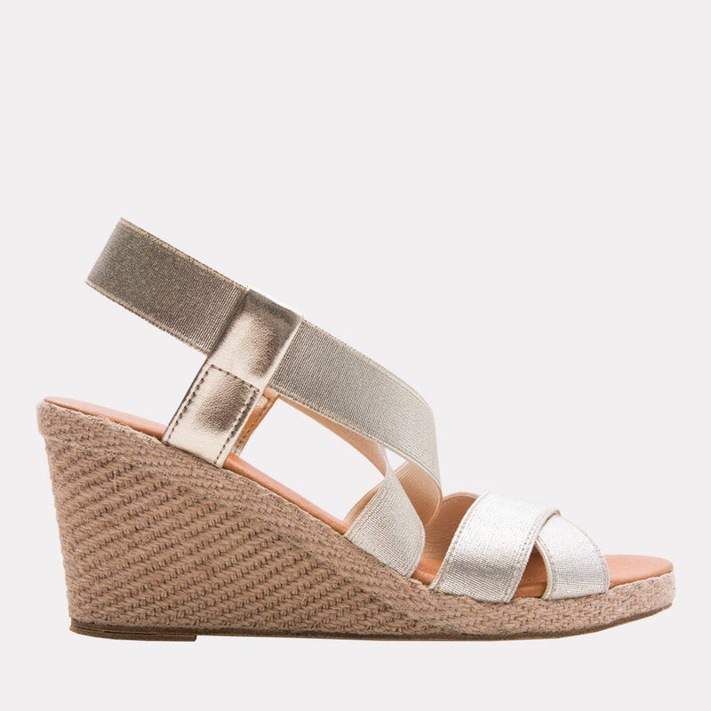 Wedge - Dalmira Mid Elastic Wedge (Platino)