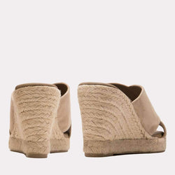 Wedge - Ida Suede Wedge (Taupe)