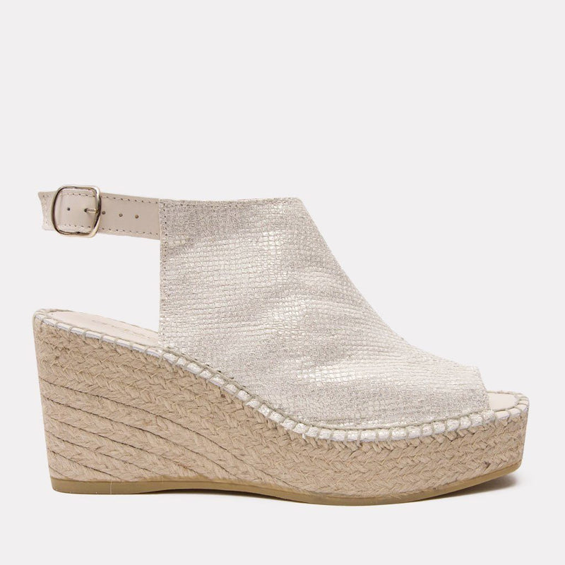 Wedge - Lina Pebbled Napa Wedge (Platino)