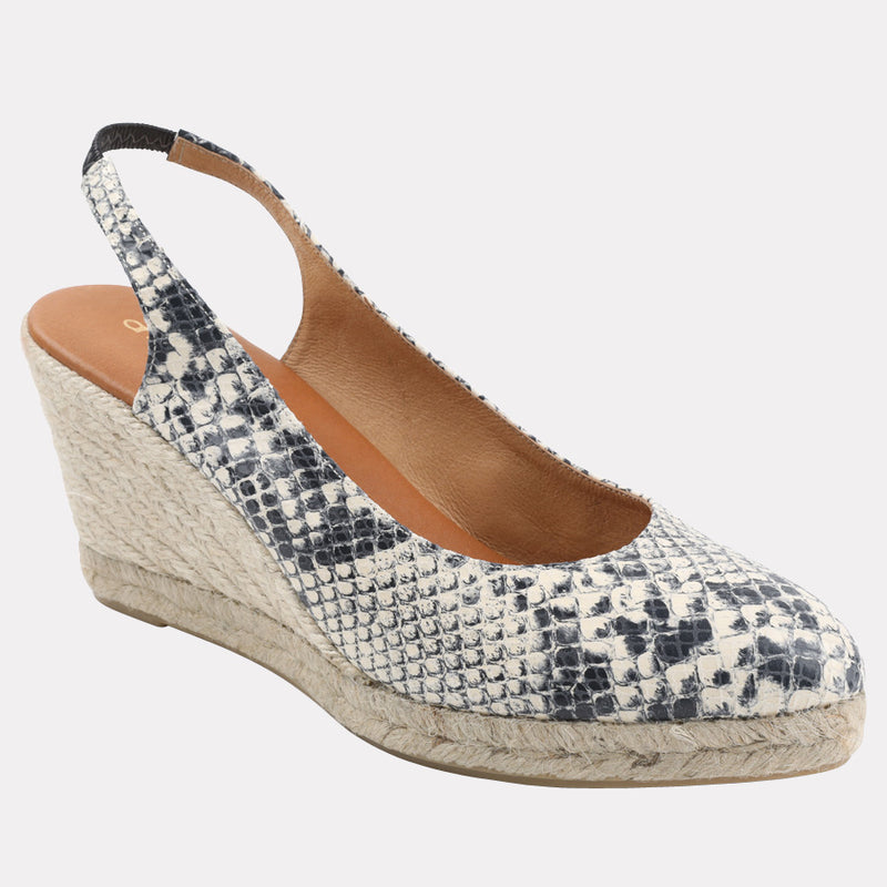 Raisa Espadrille Wedge (White Snake)