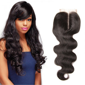 100% High Quality Brazilian Wavy Lace Closures Hair Sale