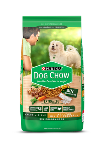 Alimento Dog Chow Adulto Sin Colorantes Mini y Pequeño